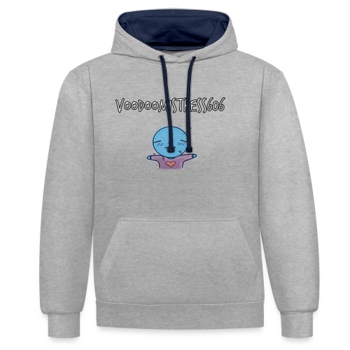 voodoodool emoji design - Sweat-shirt contraste