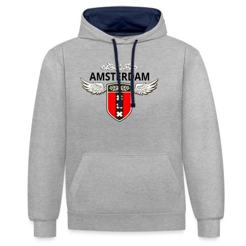 Amsterdam Netherlands - Kontrast-Hoodie