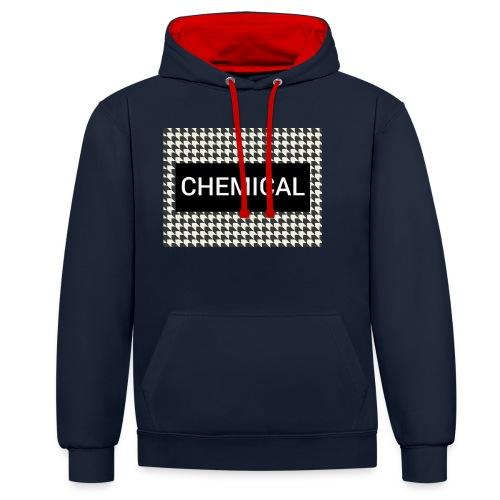 CHEMICAL - Felpa con cappuccio bicromatica