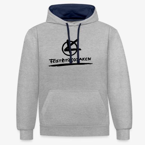 Feistritzkosaken Logo dunkel - Kontrast-Hoodie