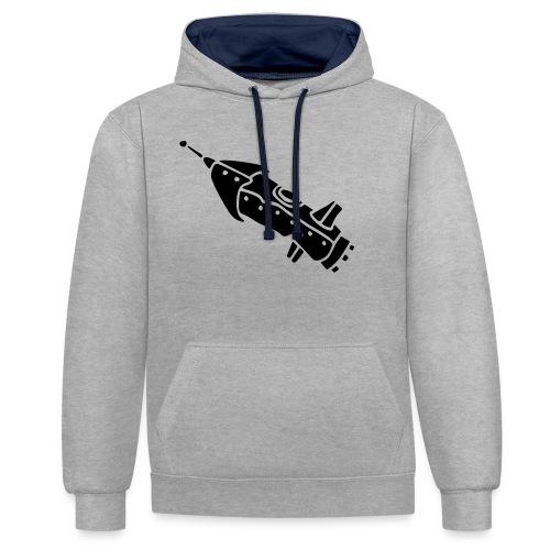space shuttle space ship Rakete rocket satellite - Kontrast-Hoodie