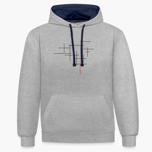 Str1ve simple lines - Contrast hoodie