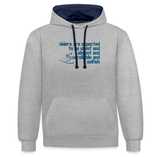 Unreliable Skiers - Contrast Colour Hoodie