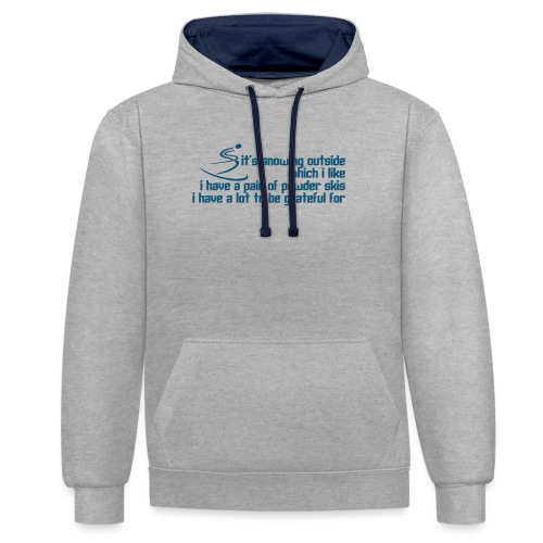 Snowing Outside - Contrast Colour Hoodie