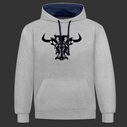 Bull - Kontrast-Hoodie