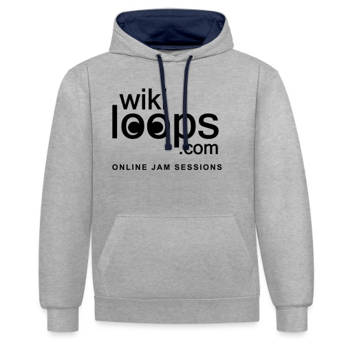 wikiloops_logo_sqare+text - Contrast Colour Hoodie