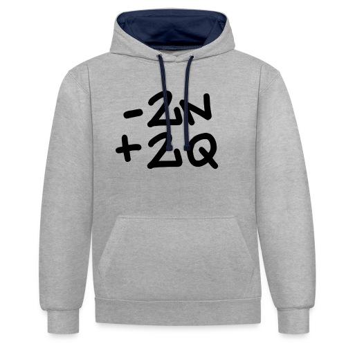 -2n+2q - Contrast Colour Hoodie