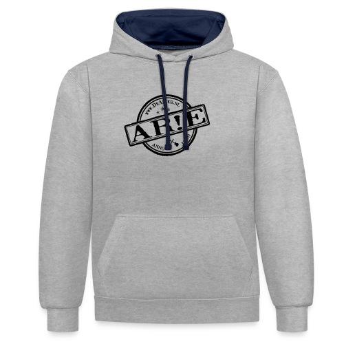 Backdrop AR E stempel zwart gif - Contrast hoodie