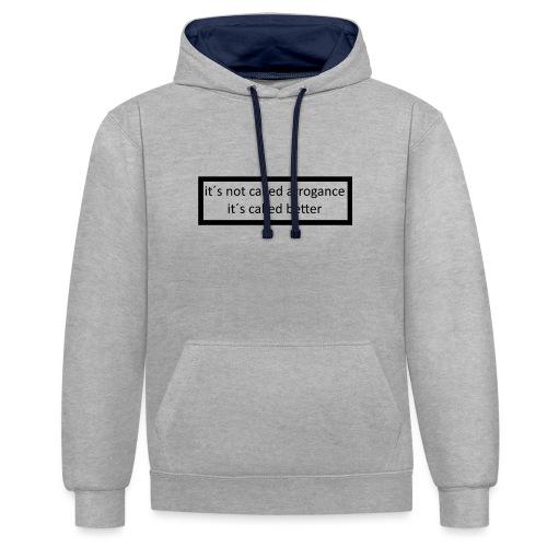 K.E.C original t-shirt - Kontrast-hættetrøje