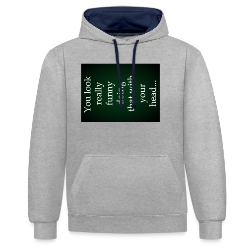 funny - Contrast hoodie