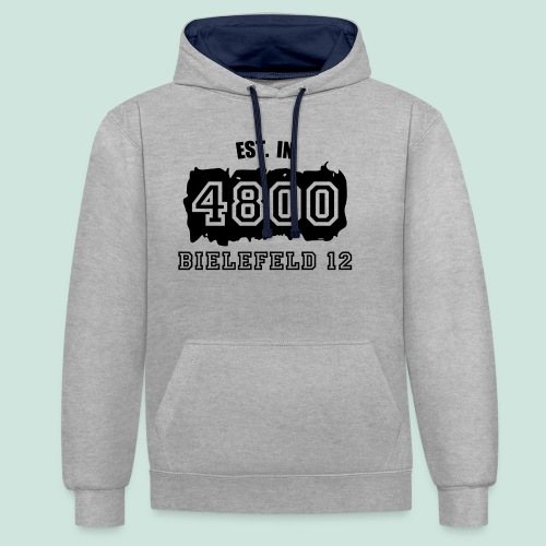 Established 4800 Bielefeld 12 - Kontrast-Hoodie