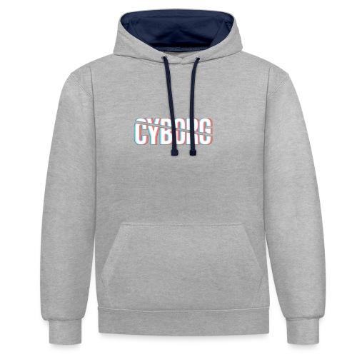 CYBORG_3D_BARRE - Sweat-shirt contraste