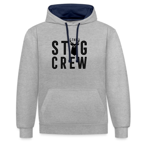 THE STAG CREW - Contrast Colour Hoodie