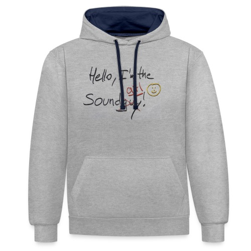 Hello I'm the sound girl - Contrast Colour Hoodie