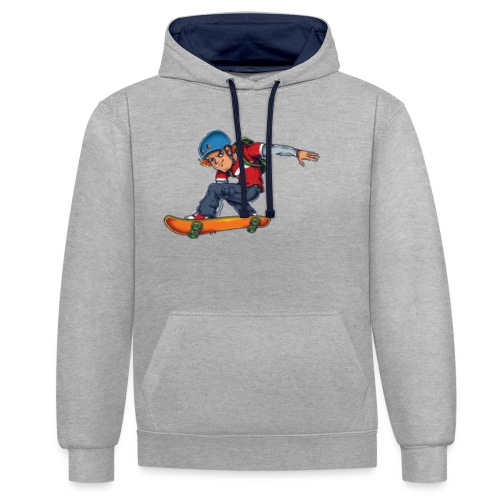 Skater - Contrast Colour Hoodie