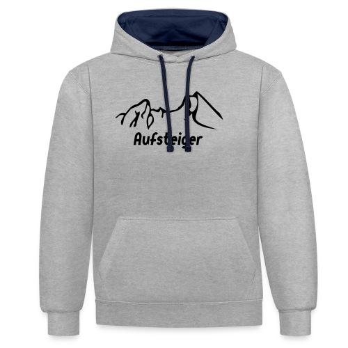 Bergsteiger Shirt - Kontrast-Hoodie