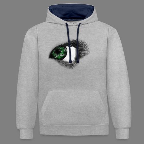 Auge 1 - Kontrast-Hoodie