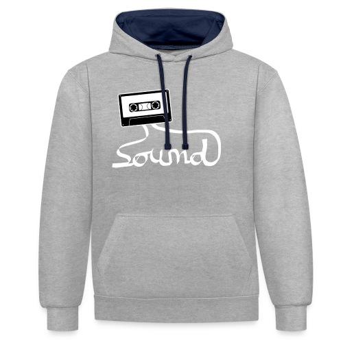 camiseta_Sound-png - Sudadera con capucha en contraste