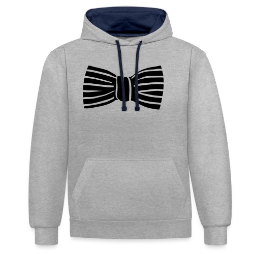 bow_tie - Contrast Colour Hoodie