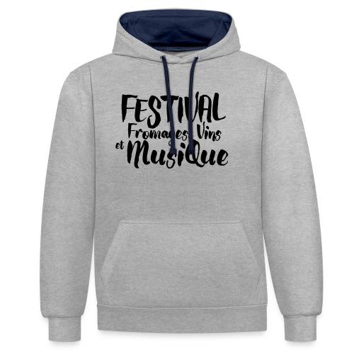 Festival Fromages, Vins et Musique - Sweat-shirt contraste