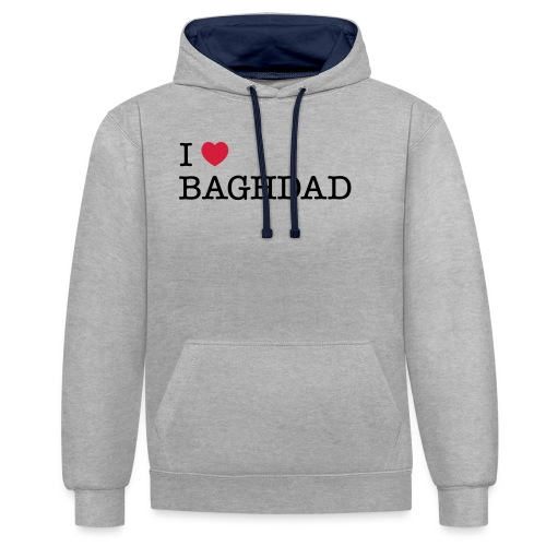 I LOVE BAGHDAD - Contrast Colour Hoodie
