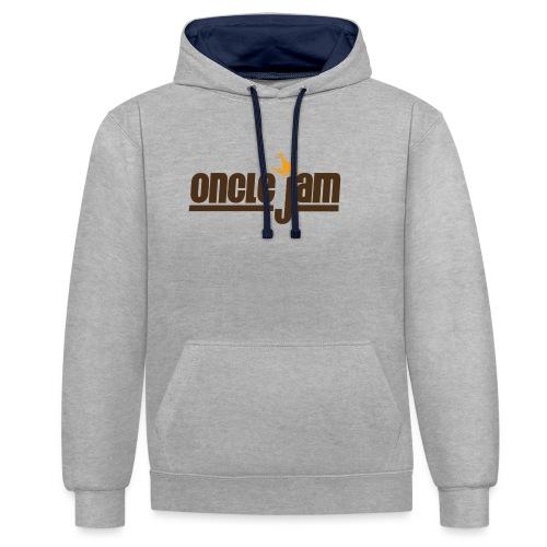 Oncle Jam horizontal brun - Sweat-shirt contraste