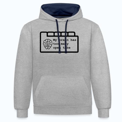 Te veel open tabs - Contrast hoodie