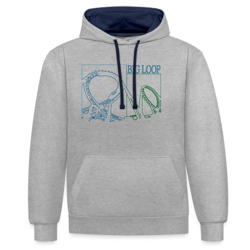 big_loop_coaster_shirt_line - Kontrast-Hoodie