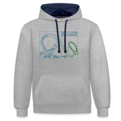 big_loop_coaster_shirt_line - Kontrast-Hoodie