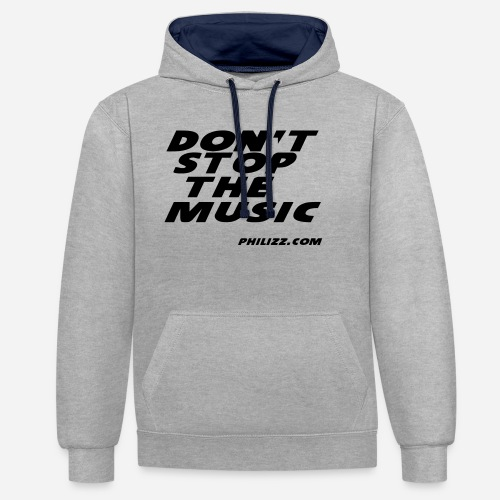 dontstopthemusic - Contrast Colour Hoodie