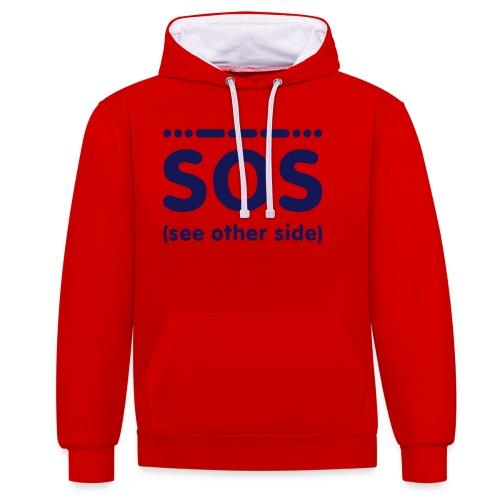SOS - Contrast hoodie