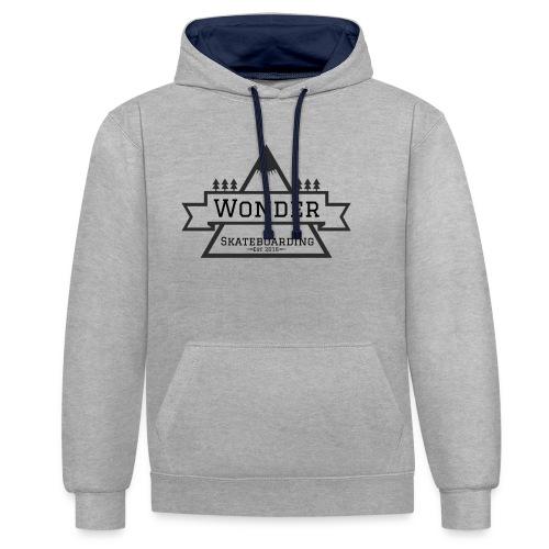 Wonder hoodie no hat - Mountain logo - Kontrast-hættetrøje