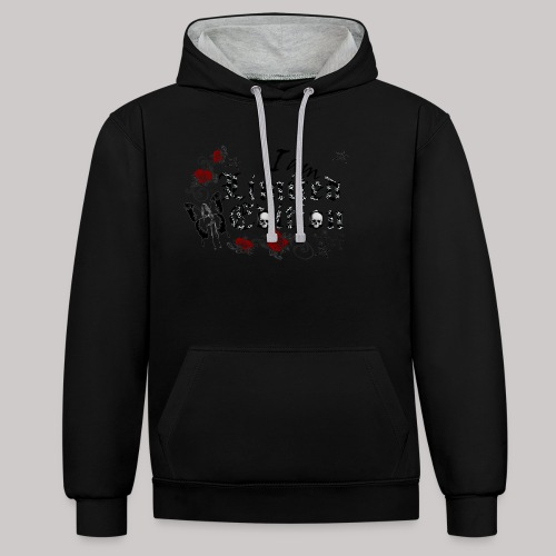 simply wild limited Edition on white - Kontrast-Hoodie