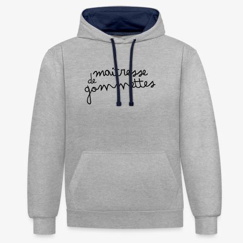 Maitresse de Gommettes - Sweat-shirt contraste