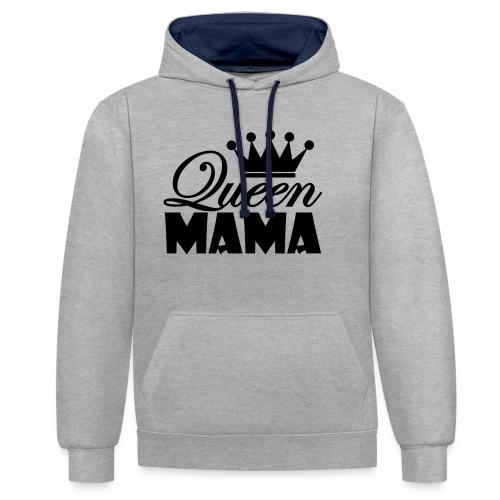 queenmama - Kontrast-Hoodie