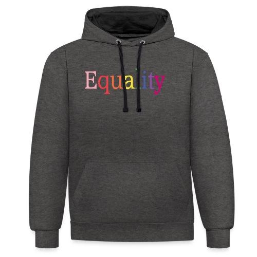 Equality   Regenbogen   LGBT   Proud - Kontrast-Hoodie