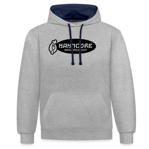 hahncore_sw_nur - Kontrast-Hoodie