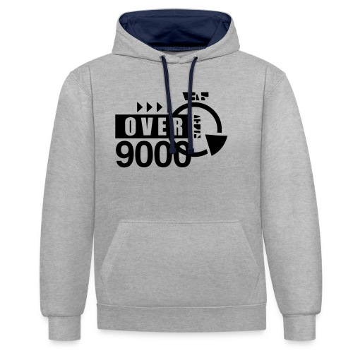 over 9000 - Contrast Colour Hoodie