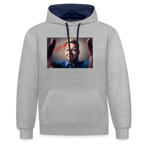 Selfy time - Contrast Colour Hoodie
