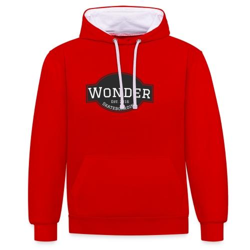 Wonder T-shirt - ol' small logo - Kontrast-hættetrøje