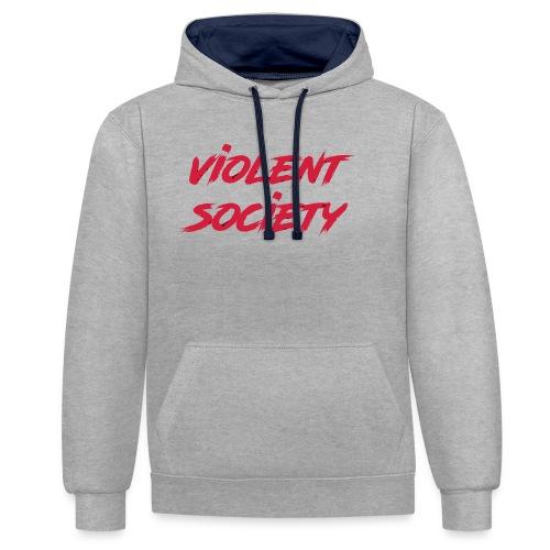Violent Society - Kontrast-Hoodie