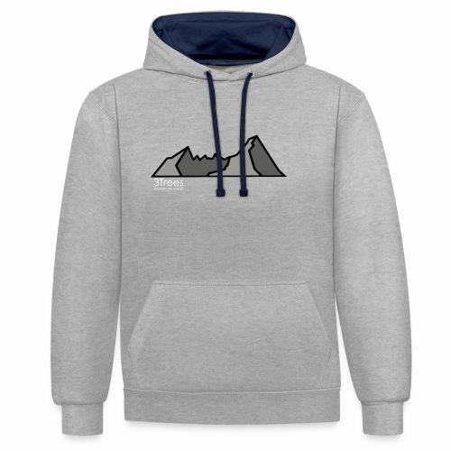 Mountains - Kontrast-Hoodie