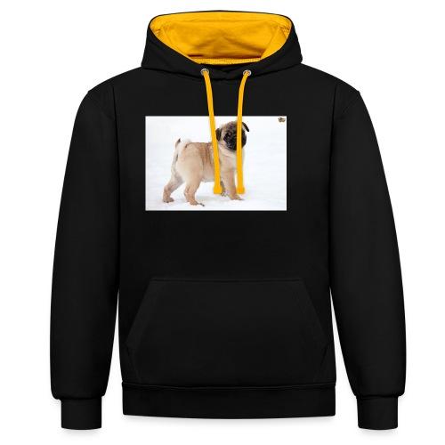 walker family pug merch - Contrast Colour Hoodie