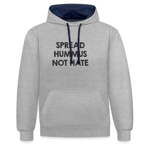 Spread hummus - Kontrast-Hoodie