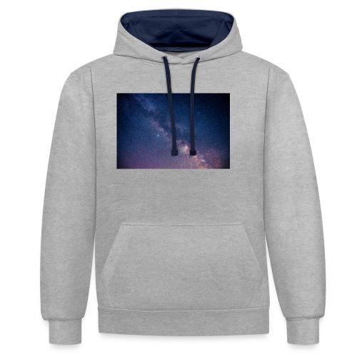Milchstraße - Kontrast-Hoodie