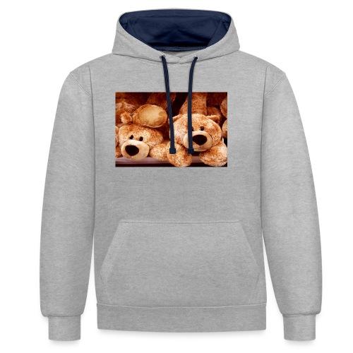Glücksbären - Kontrast-Hoodie