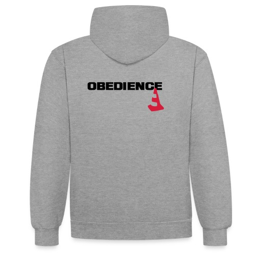 Obedience mit Pylone - Kontrast-Hoodie