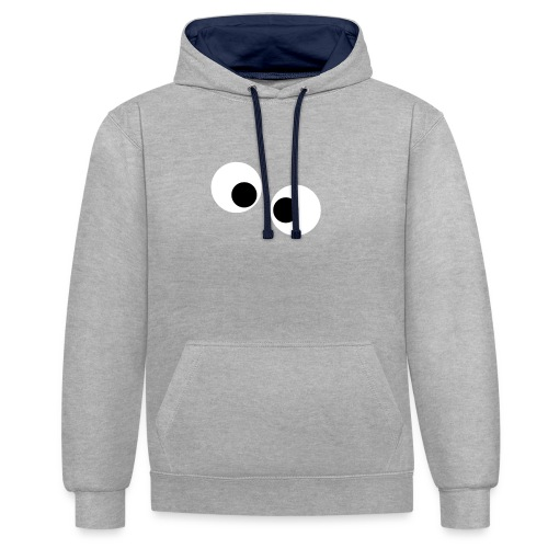 silly eyes - Contrast hoodie