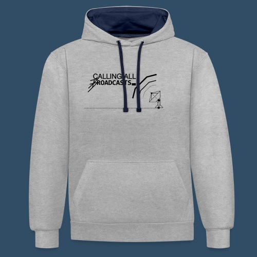 Calling All Broadcasts Invert - Contrast Colour Hoodie