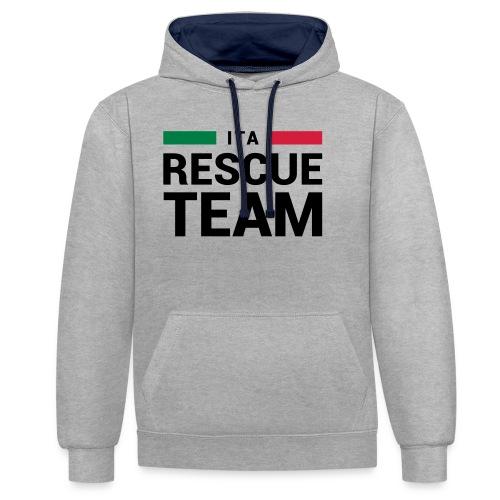 ITA Rescue Team - Felpa con cappuccio bicromatica